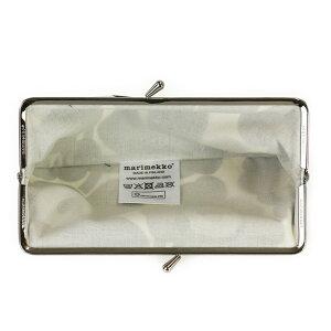 マリメッコがま口型長財布マルチポーチMARIMEKKO027003030MINIUNIKKOミニウニッコブラック