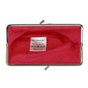マリメッコがま口型長財布マルチポーチMARIMEKKO027003301MINIUNIKKOミニウニッコレッド