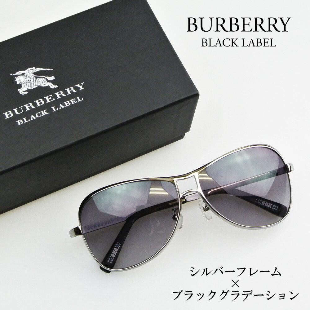 バーバリー BURBERRY サングラス メンズ BC7001 1006 クロームシルバー×ブラックグラデーション