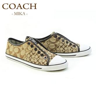 沒有COACH教練鞋/鞋/運動鞋A1851 MIKA 6CM SIG C/CALF KCT KHAKI/CHESTNUT鞋帶的類型(COACH)(38849947kch)