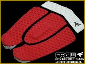 デッキパッド サーフィン 4ピース サーフボード ショート レッド デッキパッチ FROW