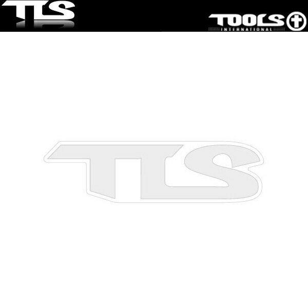 TOOLS ステッカー ホワイト ロゴ シール サーフボード スノーボード 車 自転車 LOGO STICKER TLS ツールス