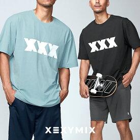 xexymix ゼクシィミックス スポーツウェア Mens メンズ XT1001 Tトリプルエックス 半袖 Tシャツ トップス ストレッチ フィットネス ジム トレーニング ワークアウト ランニング
