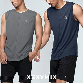 xexymix スポーツウェア メンズ ゼクシィミックス ゼクシーミックス Mens メンズ XT1006T オールラウンド スポーツ ノースリーブ カットソー トップス ストレッチ フィットネス ジム トレーニング ワークアウト ランニング