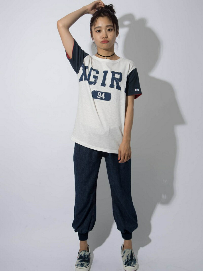 【SALE/45%OFF】X-girl BALLOON DENIM PANTS/パンツ エックスガール パンツ/ジーンズ【RBA_S】【RBA_E】【送料無料】