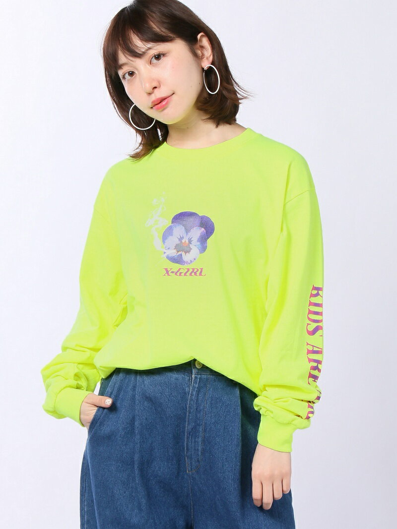 [Rakuten BRAND AVENUE]CHEEKY PANSY L/S BIG/Tシャツ X-girl エックスガール カットソー【送料無料】