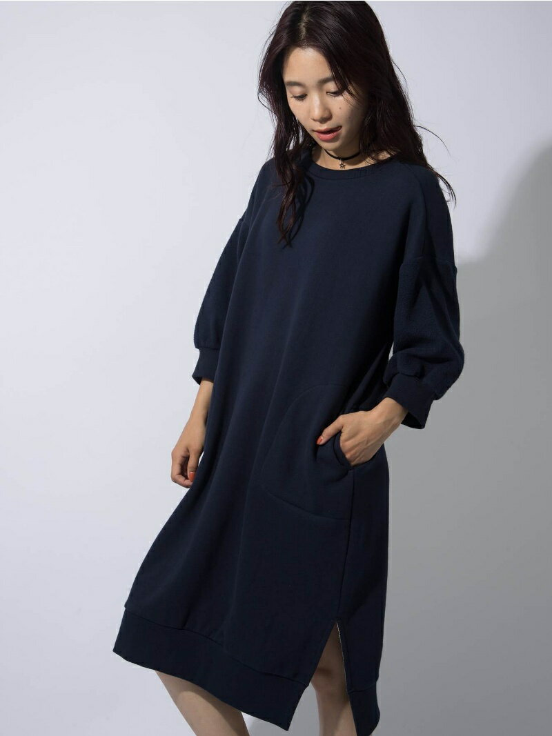 【SALE/45%OFF】X-girl LONG SWEAT DRESS/ワンピース エックスガール ワンピース【RBA_S】【RBA_E】【送料無料】