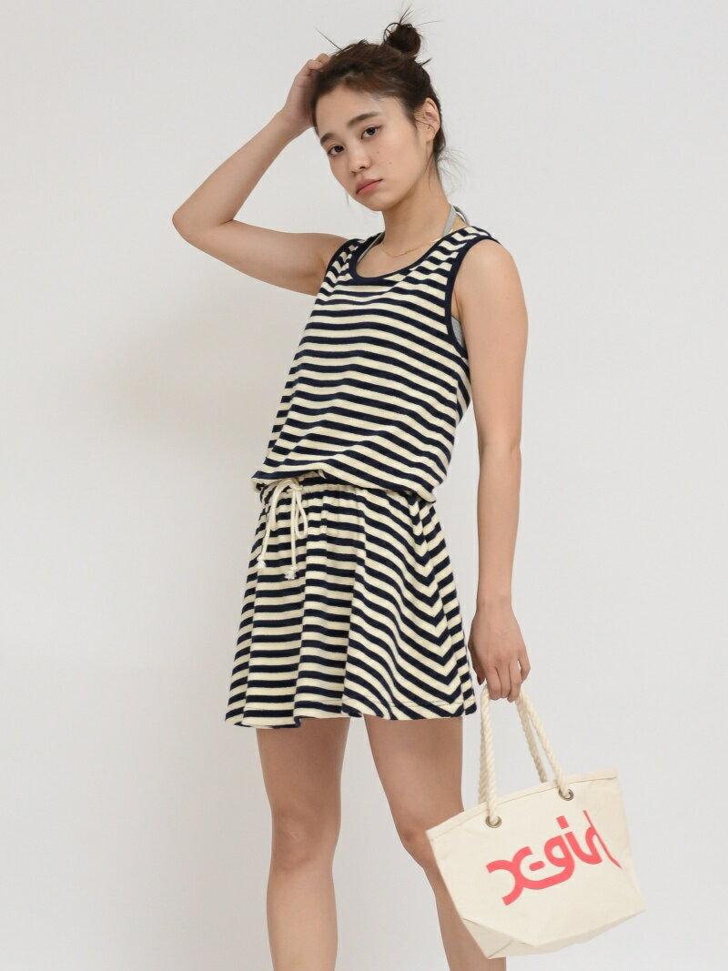 【SALE/45%OFF】X-girl TERRY CLOTH DRESS 3PIECE SET/ワンピース エックスガール ワンピース【RBA_S】【RBA_E】【送料無料】