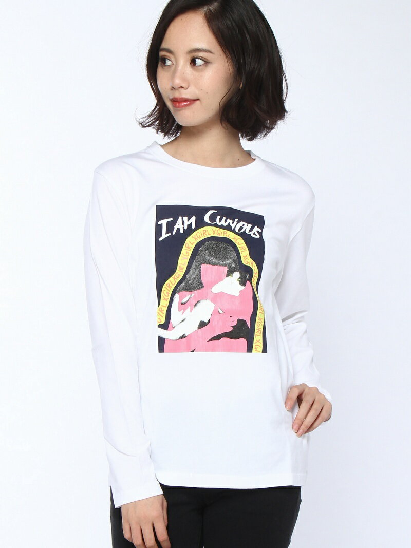 【SALE/45%OFF】X-girl CURIOUS L/S TEE エックスガール カットソー【RBA_S】【RBA_E】