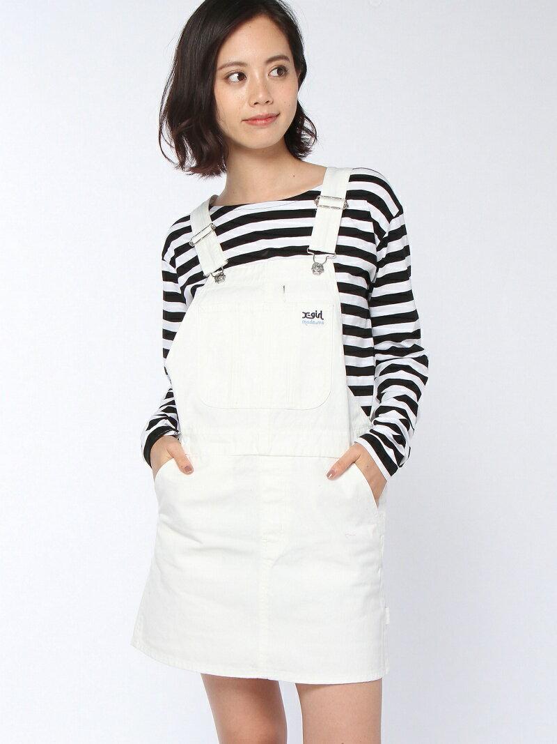 【SALE/45%OFF】X-girl MADEME/X-GIRL CANVAS OVERALL DRESS エックスガール スカート【RBA_S】【RBA_E】【送料無料】