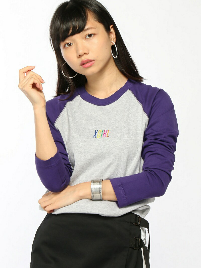 [Rakuten BRAND AVENUE]【SALE/10%OFF】MULTICOLOR LOGO B/B TEE X-girl エックスガール カットソー【RBA_S】【RBA_E】【送料無料】