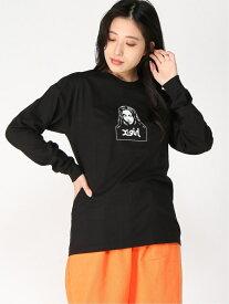 [Rakuten Fashion]FACE LS TEE X-girl エックスガール カットソー Tシャツ ブラック ブラウン ブルー ホワイト【送料無料】