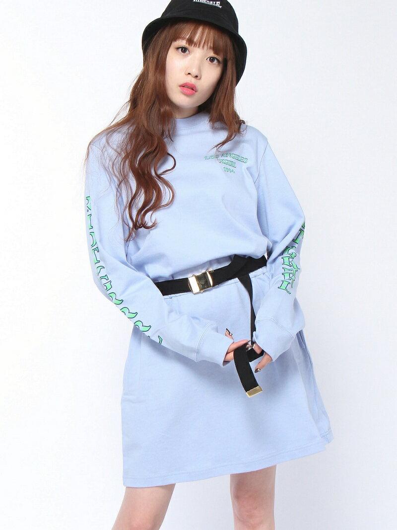 【SALE/45%OFF】X-girl RIOT GRRRL L/S TEE DRESS エックスガール ワンピース【RBA_S】【RBA_E】【送料無料】