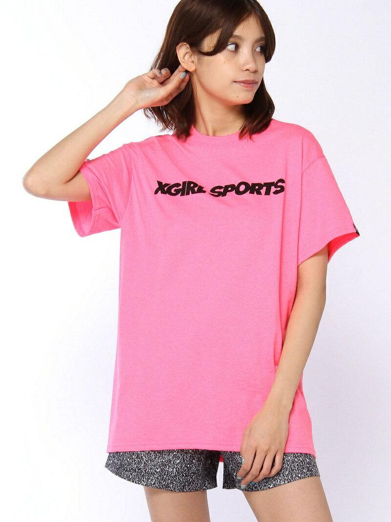 [Rakuten BRAND AVENUE]【SALE/43%OFF】S/S TEE SPORTS LOGO X-girl Sports エックスガール カットソー【RBA_S】【RBA_E】