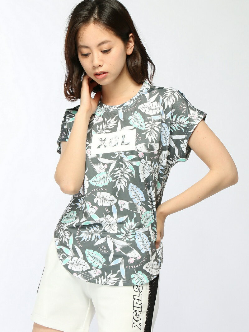 【SALE/45%OFF】X-girl Sports S/S TOP PATTERNED ALL OVER エックスガール スポーツ/水着【RBA_S】【RBA_E】