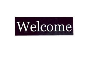 大同クラフト/シルエットプレート welcometstp-p01 ガーデニング用品 ガーデニング雑貨・オーナメント プレート