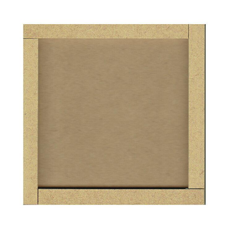 タイルクラフト用素材100角ベース クラフトプレート100mm角 10cm角 モザイクタイルコースター・木枠・フォトフレーム・壁掛けなどに