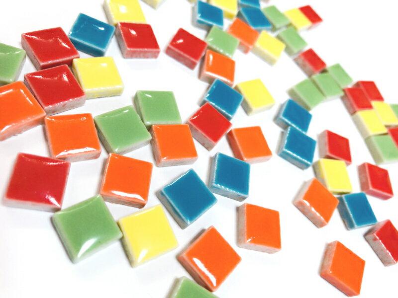 1cm角の小さなタイルモザイクタイル テンアート 10mm角(特別色)50g単位で量り売りします(50粒前後)10×10×4mm【ゆうパケット可】【500gまでゆうパケット可能】