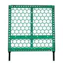 【代引/同梱不可】プラスチックフェンス 緑
