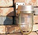 こんな灯りで玄関を照らしたい・・・船舶で本格的にも使われているライトですマリンライト1号フランジタイプ ゴールド