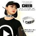 【CHEER】[チアー] テープロゴ チョーカー ベルト 白 スナップバック【【モノトーン ゴム ロゴテープ レディース キッ…