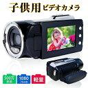 【送料無料】ビデオカメラ カムコーダー 1080P 500万画素 静止画1200万画素 フルHD ナイトビジョン 夜間カメラ2.7イン…