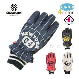 スキー スノーボード グローブ ジュニアサイズ スノボ 防水 スノーグローブ 防水インナー内蔵 手袋 ロゴ レッド ネイビー ブラック グレー