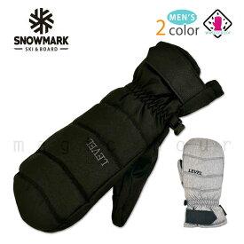 スキー スノーボード グローブ メンズ スノボ 防水 スノーグローブ 防水インナー内蔵 手袋 ミトン ロゴ 黒 ブラック グレー