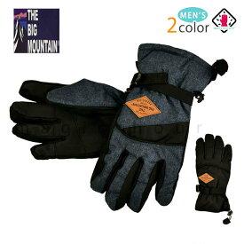 スキー スノーボード グローブ メンズ スノボ 防水 スノーグローブ 防水インナー内蔵 手袋 オールラウンド ロゴ 黒 ブラック 紺 ネイビー 5本指