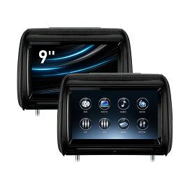 (HD928THD)XTRONS 9インチ ヘッドレストモニター DVDプレーヤー スロットイン式 大画面 高画質 タッチスクリーン1080Pビデオ再生 30度角度調整可 HDMI・ゲーム・USB・SD 外部入力/出力 2個1セット 一年保証付き