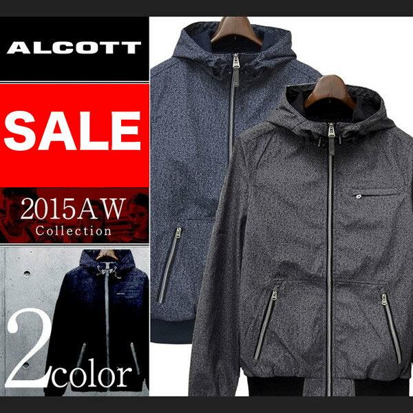 アルコット アウター コート ナイロン ジャケット ブルゾン ジップアップ メンズ 長袖 ALCOTT イタリア Italy インポート 本物 正規品