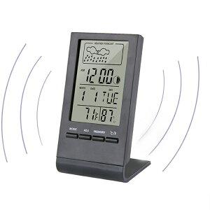 温湿度計 おしゃれ デジタル マグネット 温度計 アラーム 湿度計 快適レベル表示 温度湿度時刻表示 スタンド 熱中症計 卓上 日本郵便送料無料T100-69