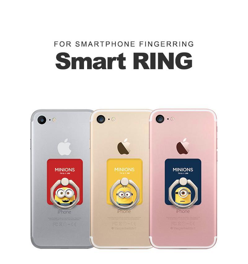 スマホリング ミニオンズ iPhone Galaxy  Xperia スマホ全機種対応 バンカーリング 片手操作 グリップ感 スマホスタンド スマホ立て Minions アクセサリー リング スマホアクセサリー Beelze00180