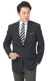 春夏用 ネイビー系 【織柄】【ウール混】スタンダードジャケット REGAL
