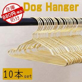 新作【10本入り】犬 犬服 ゴールド ハンガー 20cm 犬服ハンガー 犬服整理