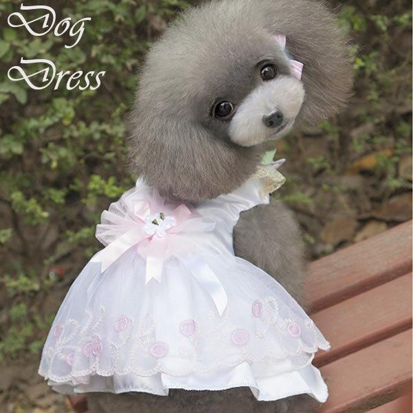 犬 服 犬服 小型犬 カラードレス イベント 結婚式 ワンピース ドッグウエア XS S M L ピンク ホワイト