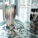 フラワーベース 花瓶 ガラス おしゃれ 高さ38cm 大きい Lサイズ 花びん 花器 インテリア雑貨 オブジェ 置物 ガーデニ…