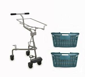 ショッピングカートST20-C100買い物カゴ2個付