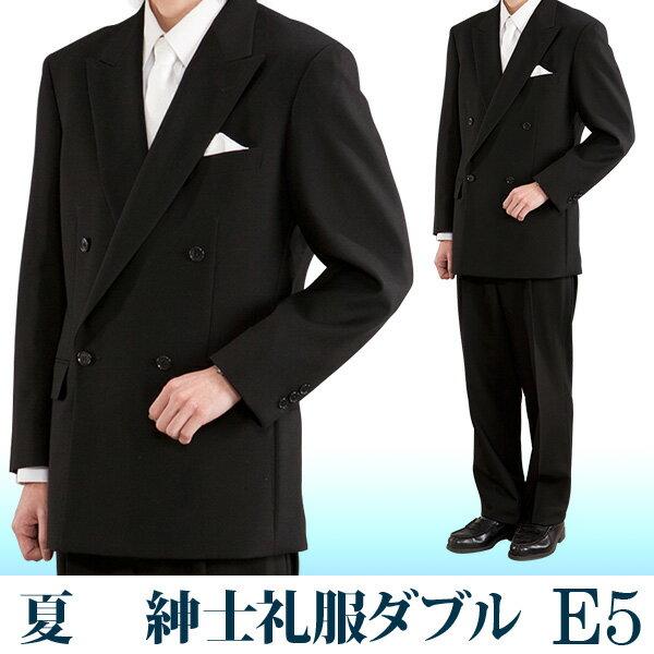【レンタル】礼服 レンタル[夏E5ダブル][身長165〜170][100cm][ダブル]ダブル礼服E5[サマー][礼服レンタル][喪服レンタル]fy16REN07