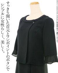 夏の女性礼服420襟元