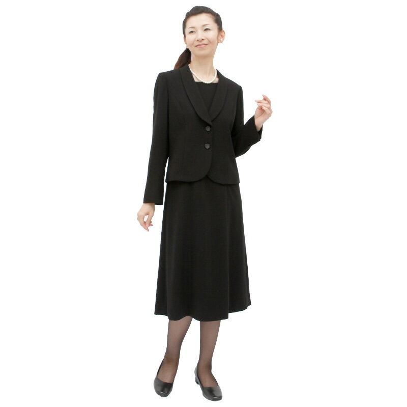 【レンタル】[124]着脱が楽な前ファスナーワンピースとジャケットのアンサンブル喪服・礼服(ショールカラー){13号}{2}{3}{4}{5}5分袖/礼服レンタル/喪服レンタル/レディース/お通夜/法事/卒業式