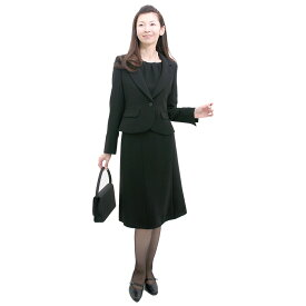 【レンタル】[marie claire(マリ・クレール)]喪服 礼服 レンタル〔206〕喪服 レディース ブラックフォーマル スリーピース スカートスーツ[葬儀][お通夜][卒業式][卒園式]{7号}{9号}{11号}{13号}{3}[可愛い喪服] [華奢][女性 礼服][レディース]{5分袖}【fy16REN07】[l]
