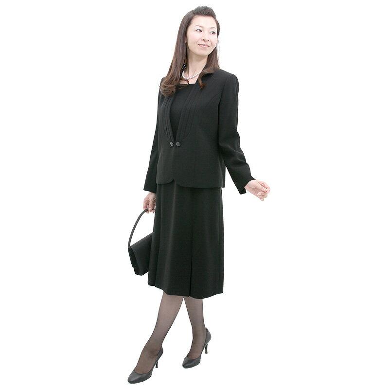 【レンタル】卒業式 スーツ 母 大人 ママ 母〔305〕 レディース ブラックフォーマル レンタル[11号 13号 15号]卒園式 スーツ ママ 母 ママ 保護者[女性礼服][fy16REN07][l]