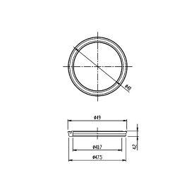 LIXIL(INAX) Uパッキン 50-2128(2枚セット)