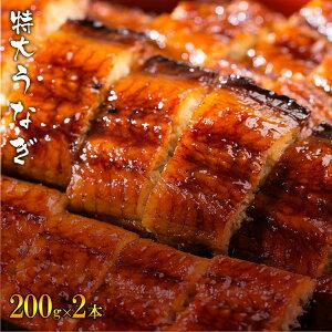中国産うなぎ 特大蒲焼き(200g×2パック(2〜4人前)) 鰻 ウナギ 丑の日 土用 お中元 タレ付き 山椒付き ギフト お中元