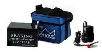 シーキング バッテリー 充電器付き 12V/12Ah カルシウムバッテリー メンテナンスフリー ウッドマン