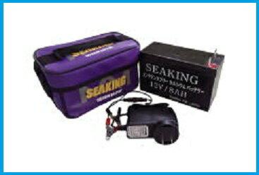 シーキング バッテリー 充電器付き 12V/8Ah カルシウムバッテリー メンテナンスフリー ウッドマン