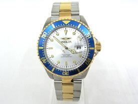 【値下げしました】INVICTA Pro Diver インヴィクタ 22061 プロダイバー SS/GP シルバー文字盤 クオーツ メンズ 腕時計 インビクタ 【中古】【程度A+】【極上美品】