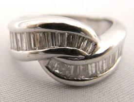 【大幅値下げ致しました!!】Pt900 プラチナ900 指輪 角ダイヤモンド 1.00ct ノーブランド リング【中古】【程度A】
