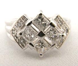 【大幅値下げ致しました!!】Pt900 プラチナ900 指輪 ダイヤモンド 1.03ct ノーブランド リング【中古】【程度A+】【美品】